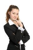 La giovane donna di affari fotografia stock libera da diritti