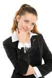 La giovane donna di affari fotografie stock