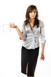 La giovane donna di affari. fotografia stock