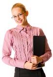 La giovane donna di affari ha isolato Fotografia Stock
