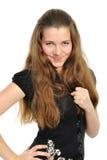 La giovane donna impressionabile fotografie stock libere da diritti