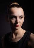 La giovane donna nello stile un'annata Immagine Stock Libera da Diritti