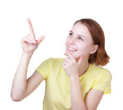 La giovane donna rivela Immagini Stock