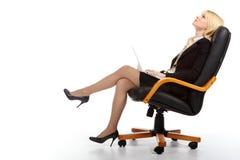 La giovane donna sexy di affari Immagini Stock Libere da Diritti