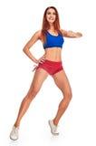 La giovane donna si esercita sulle punte dei piedi Fotografia Stock