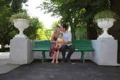 La giovane famiglia Fotografia Stock Libera da Diritti