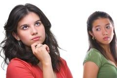 La giovane femmina ignora il suo amico Immagini Stock Libere da Diritti