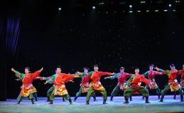 La giovane manifestazione della città universitaria di ballo- del ragazzo del Eagles-tibetano Immagini Stock Libere da Diritti