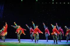 La giovane manifestazione della città universitaria di ballo- del ragazzo del Eagles-tibetano Fotografia Stock