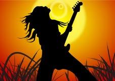 La gioventù di canta una canzone Fotografie Stock Libere da Diritti
