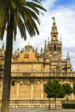 La giralda. Spain. Cathedral of Seville. Tower La giralda Stock Photography