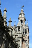 La Giralda cathedral belltower in Seville Royalty Free Stock Photo