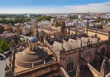 La Giralda da catedral em Sevilha Spain Fotos de Stock Royalty Free