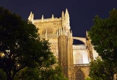 La Giralda de la catedral en Sevilla Spain Foto de archivo libre de regalías