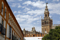 La Giralda, the famous cathedral of Seville Stock Images
