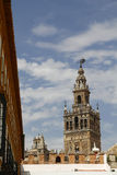 La Giralda, the famous cathedral of Seville Stock Photography