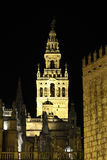 La Giralda at night. Seville, Spain Stock Image