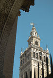 La Giralda tower detail in Seville, andalusia. Spain Stock Photos