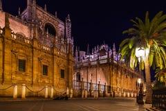 La Giralda van de kathedraal in Sevilla Spanje Stock Foto