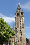 La Giralda von Sevilla Stockfotos