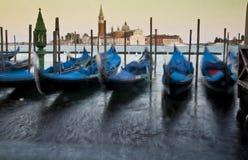 La Giudecca II. Gondolas and San Giorgio Maggiore Stock Photos
