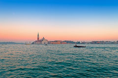 La Giudecca at sunset Stock Images