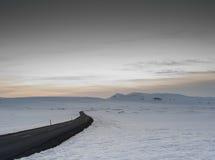 La glace a couvert des montagnes en île occidentale du nord Photos stock