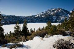La glace a couvert le lac Images libres de droits