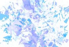 La glace détaillée de fond réduit la texture en fragments Illustration Stock