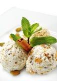 la glace de maison de dessert à la crème a effectué photo libre de droits