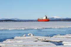 La glace de mer est détruite au printemps Image libre de droits
