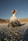 La glace de robe formelle de femme remet des frais généraux Images stock