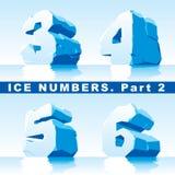 La glace numérote la partie Images stock