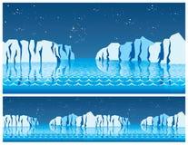 La glace polaire Photographie stock