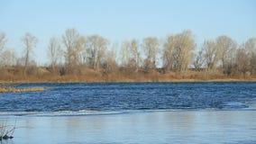 La glace se lève sur la rivière banque de vidéos