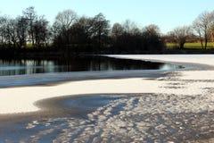 La glace sur le lac Einfelder voient Images stock