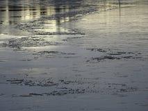 La glace vient cet hiver également en Finlande Photos libres de droits