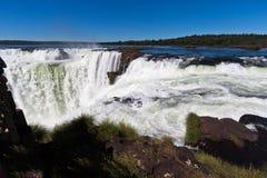 La gola dei diavoli in Iguassu cade l'Argentina Brasile fotografia stock