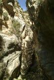 La gola di Avakas nell'isola Mediterranea del Cipro fotografia stock libera da diritti