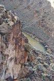 La gola di Rio Grande, New Mexico Fotografia Stock