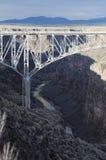 La gola di Rio Grande, New Mexico Immagine Stock