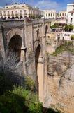 La gola spettacolare a Ronda nelle montagne di Andalusia Immagine Stock Libera da Diritti