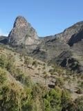 La Gomera海岛的Roque Agando  库存图片