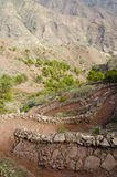 La Gomera, Canary Islands, path from Degollada de Peraza. Stock Photography