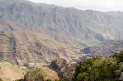 La Gomera, Canary Islands, view from Degollada de Peraza. Royalty Free Stock Images