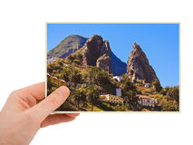 La Gomera Canary photography in hand Stock Photo