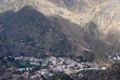 La Gomera is cirkel en 24 km in diameter Stock Foto's