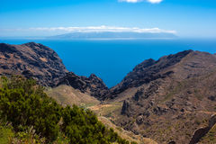 La Gomera island seen from Tenerife island, Spain Royalty Free Stock Image