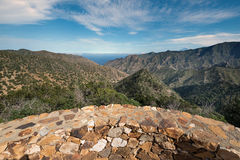 La Gomera landscape, viewpoint with mountains and canyons Royalty Free Stock Photo