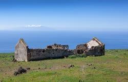 La Gomera - ruina en la meseta del La Merica Fotos de archivo